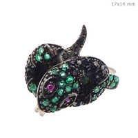Gemstone Diamond Snake Ring