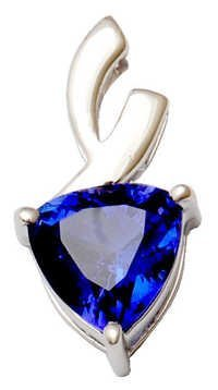Diamond Gemstone Jewelry Supplier, latest Tanzanite gold diamond pendant