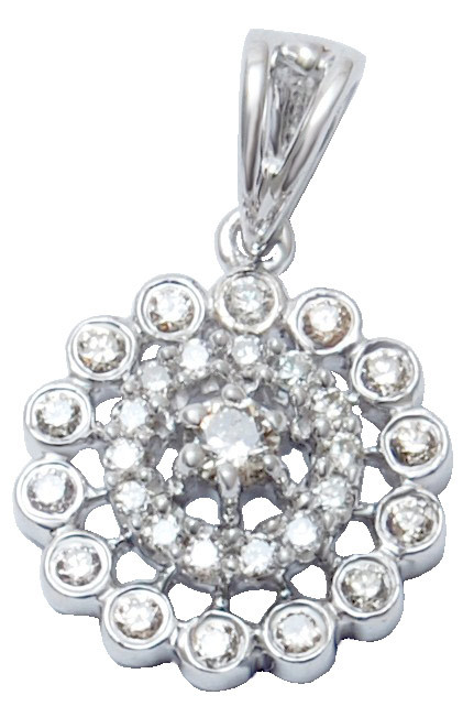 2013 wholesale round shape  diamond pendant , cluster diamond pendant in white gold