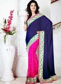 Net And Velvet Saree