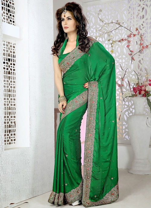 Designer Satin Saree