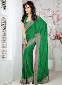 Designer Satin Saree