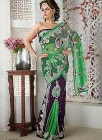 Purple Designer Saree