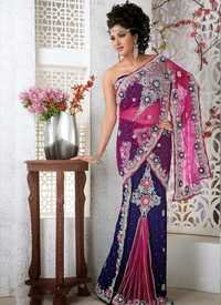 designer rani pink saree