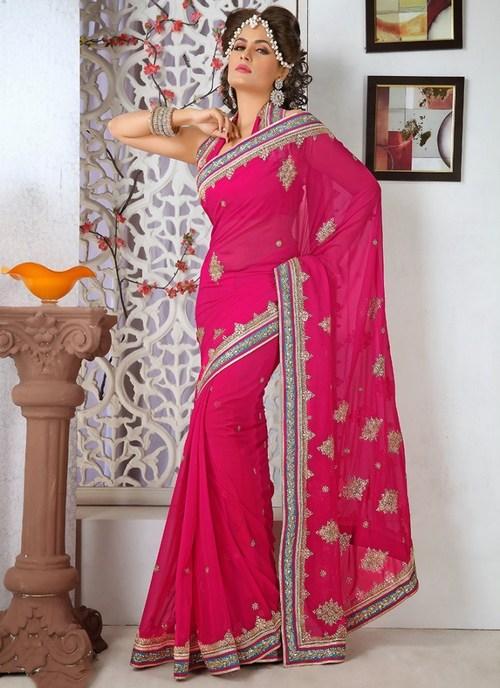 Designer Rani Color Saree