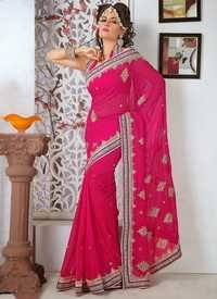 Designer Rani Color Saree