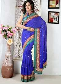 Royal Blue Designer Saree