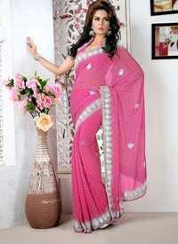 Designer Peach Saree