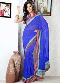 Royal Blue Designer Saree