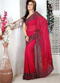 Designer Red Saree