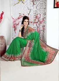 Green Designer Saree