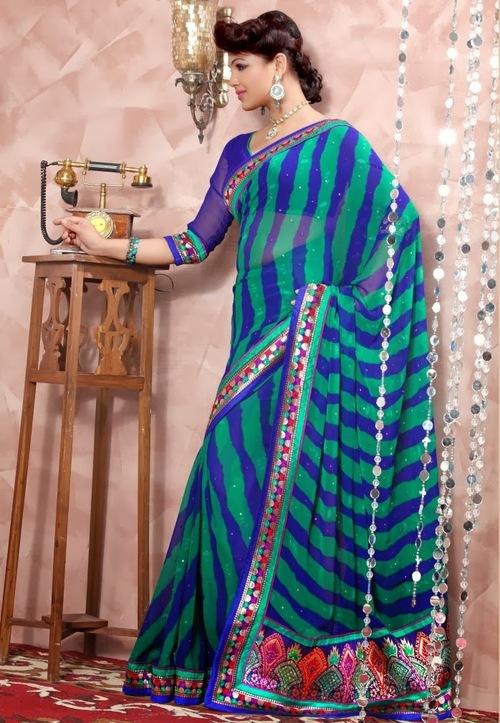 Traditional Blue Sarees