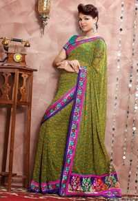 Floral Design Sarees