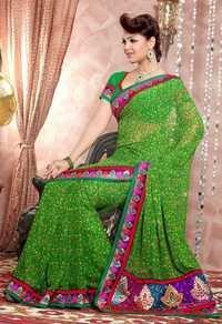 Colored Casual Sarees