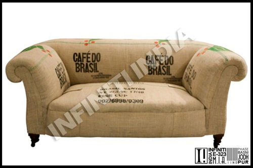 Grain Sack Sofa