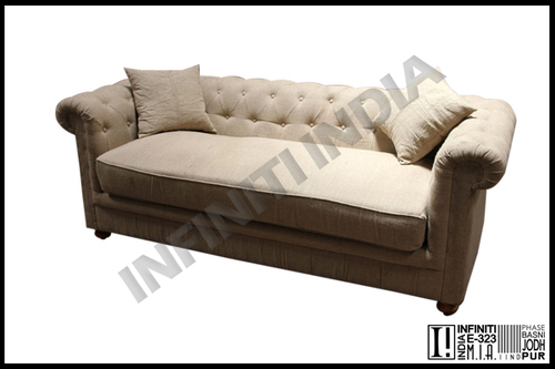 Grain Sack Three Seater Sofa
