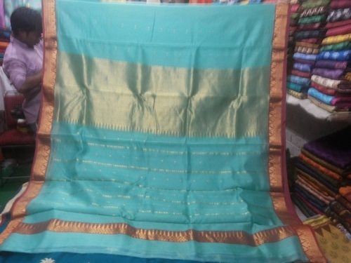 100% SIlk chanderi zari