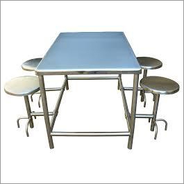 SS Dining Table 4 Seater
