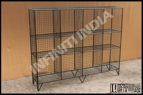 Industrial Wire Bookshelf