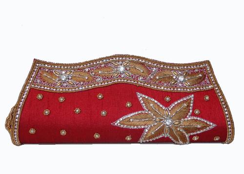 Silk Red Clutch Bag