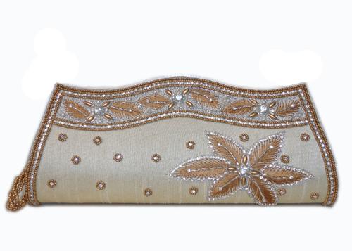 Silk Gold Clutch Bags