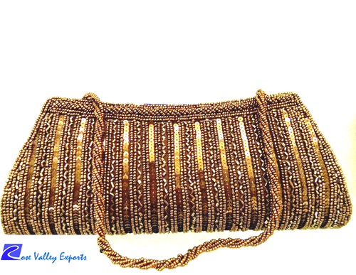 Brown Silk Clutch Bags