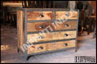 Vintage Industrial Drawer Chest