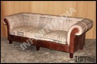 Vintage Sofa With Newspaper Finish