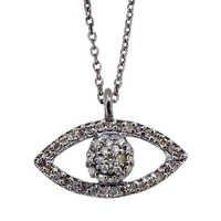Diamond Evil Eye Charm Pendant Jewelry