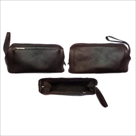 Small Leather Zipper Pouche
