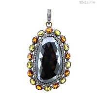 Gemstone Diamond Gold Pendant