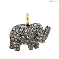 Diamond Elephant Charm Pendant Jewelry