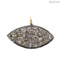 14k Gold Diamond Evil Eye Charm Pendant Jewelry