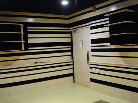Audio Studio Wall Acoustics With Sound Diffuser