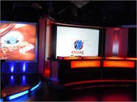 News Set With Projection System