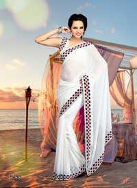White Colour Sarees