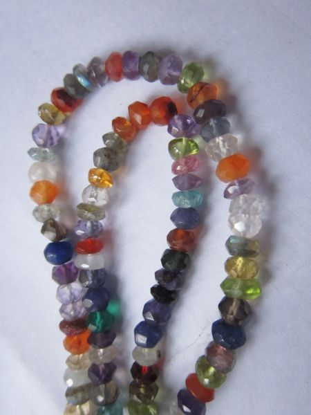Faceted Roundell  Beads One Strand