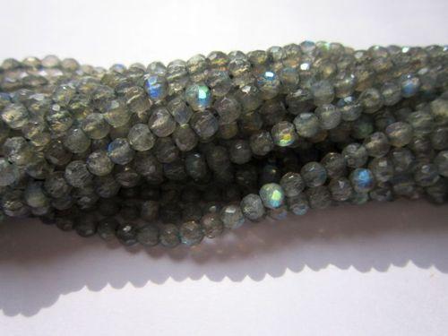 Labradorite 4mm round cutting 13 inch Beads