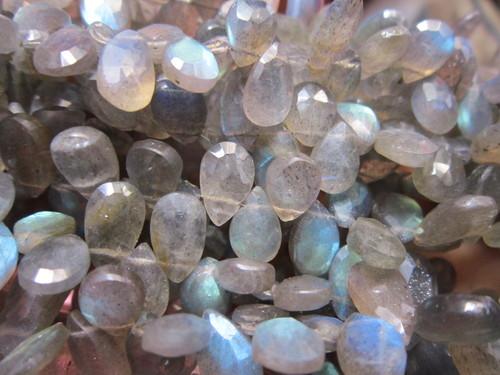 Labradorite  Faceted Almond  Beads gemstone