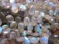 Labradorite  Faceted Almond  Beads gemstone
