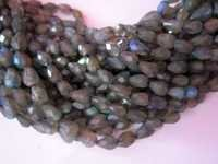 Faceted Top Drill Drop Beads