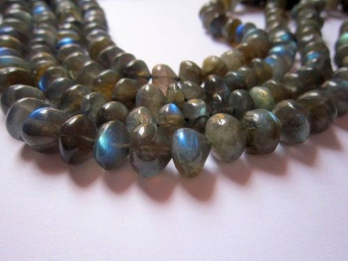 Labradorite onion shape 13 inch beads gemstone