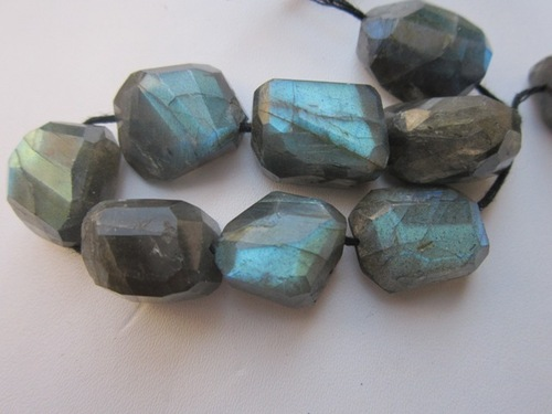 Labradorite Faceted Nuggets 7 Pcs. Best Quality