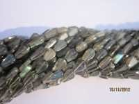 13 Inch Labradorite Pear Shape Gemstone Beads