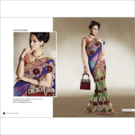 Designer Net Sarees