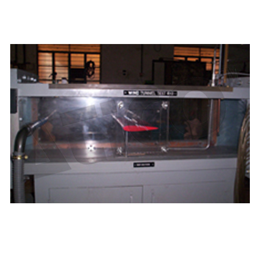 Wind Tunnel Test Section With Aerofoil Model
