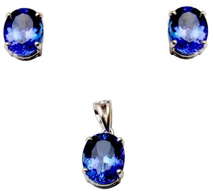 Oval Shape Blue Tanzanite Jewelry Manufacturer