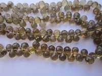 Beer Quartz Faceted Drops 4X5Mm Beads