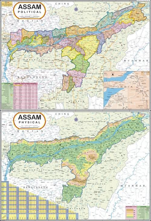 Assam Political Map