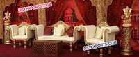 Latest Asian Wedding Golden Furniture Set